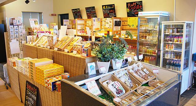 紀州名産物販コーナー